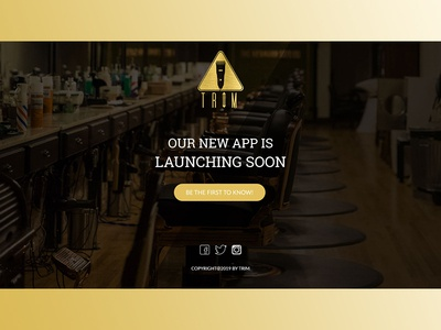 Barbar shop- App coming soon