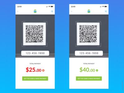 Carwash App - Qr code screen