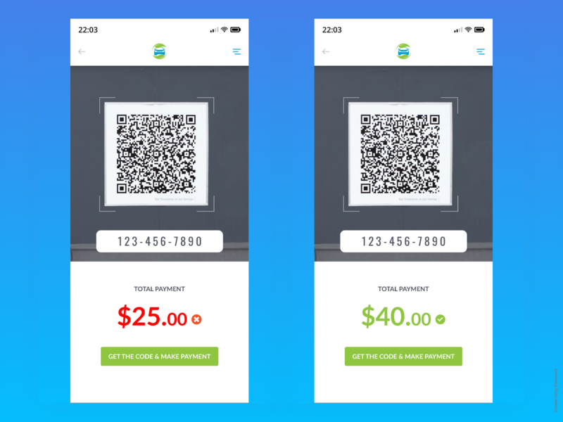 Carwash App - Qr code screen typography landing page iphone x website user interface mobile app ui clean ux dashboard