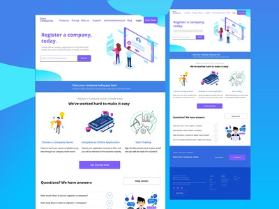 Startcompanies-landing page