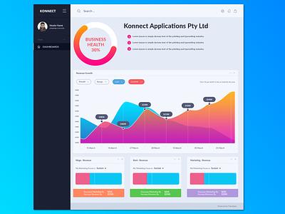 Konnnect-dashboard design website clean ux branding typography mobile app dashboard logo illustration user interface