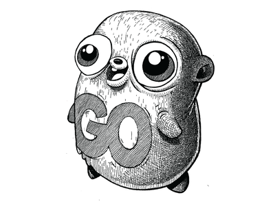 Golang Gopher gopher animal cute google development engineering computer code golang