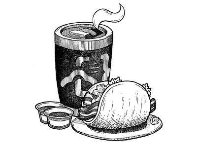 Texas Breakfast bacon coffee food mexican breakfast taco texas