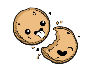 Cookies! drawing illustration modal consent tongue cute food dessert cookie