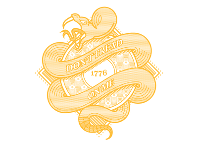 Don't Tread on Me illustration vector pattern america design icon type logo shirt usa freedom snake