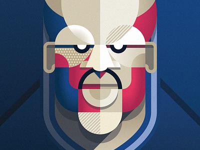 James Harrison – New England Patriots nfl football vector art deco design avatar portrait face sports pattern
