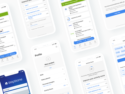 Stepstone mobile app user interface design user interface ios app ios mobile app application design ux ui