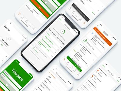 Totaljobs app (iOS) user interface design ios app ios interface design user interface design mobile app application ux ui