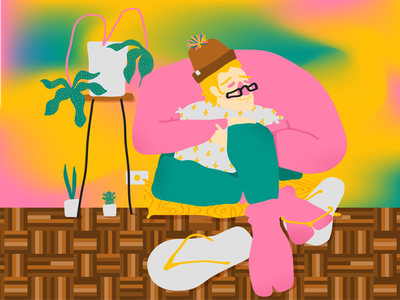 Flip flop and socks socks flat vector illustration illustration