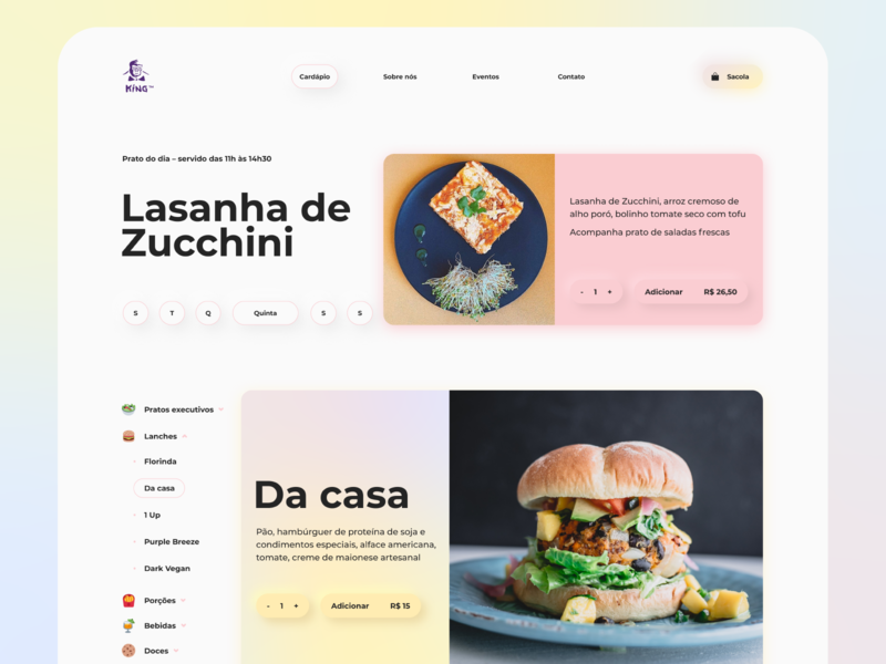King Vegan website vegan unsplash photography interface website typography ui