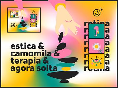 Routine illustrator illustraion balance therapy chamomile stretches tea pandemic brazil vector illustration vector art direction