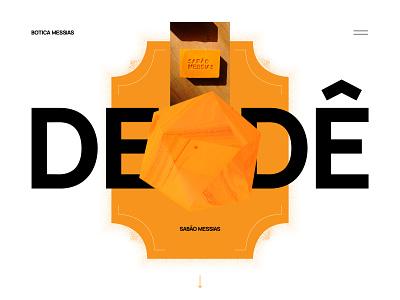 Botica Messias - concept #2 website soap skin care self care concept interface palm dendê 3d vegan ui typography vector branding art direction
