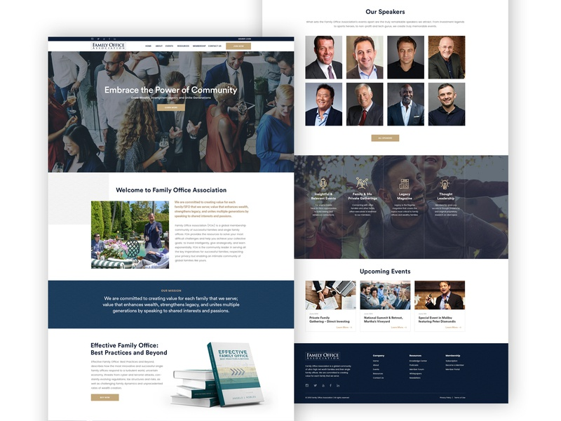 Website of a Family Office Association