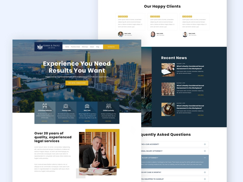 Website of a Law Firm