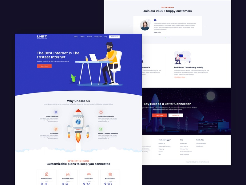 Website of an Internet Service Provider