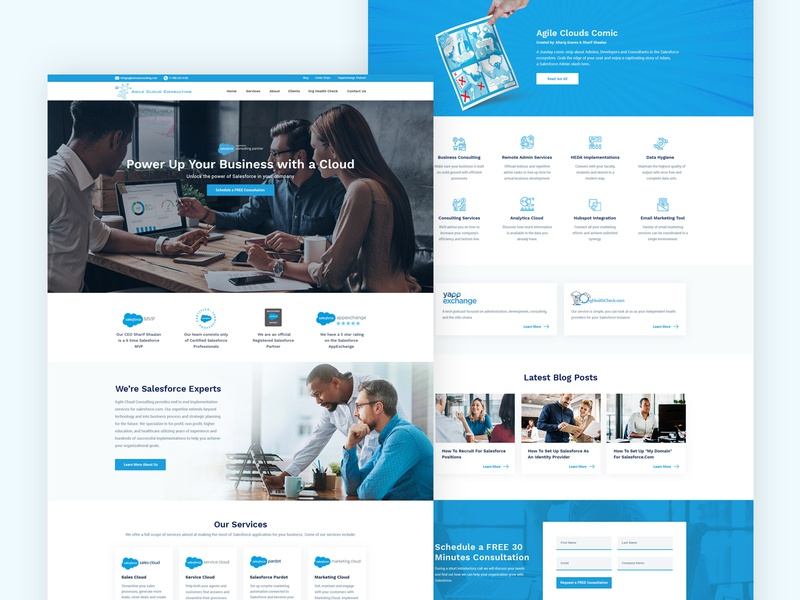 Website of a Salesforce Consulting Company