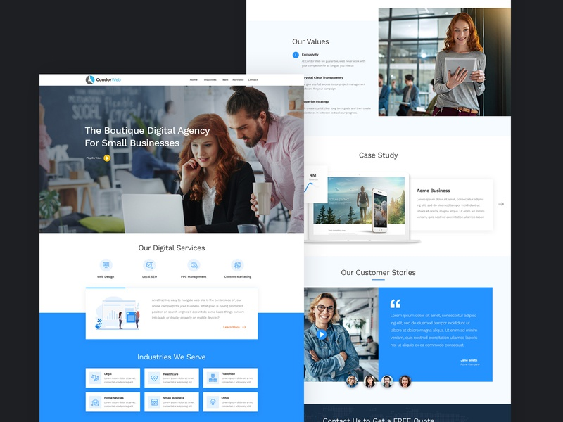 Boutique Digital Agency Website