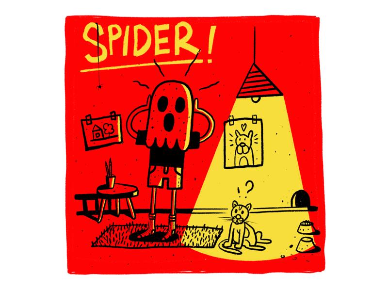 Spider art picture comics sketch