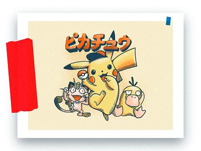 Pikachu comic art letter cat art picture comics sketch vector typography print web inspiration animal postcard character clover icon style ux ui design illustration art