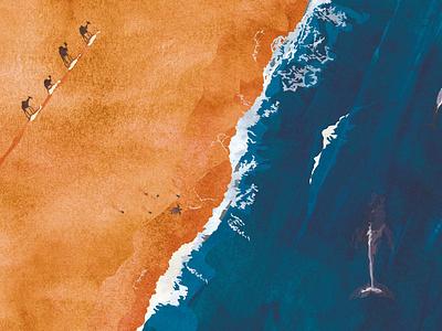 The Ocean and the Desert drawing children digitalart nature books animal art book digital illustration