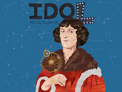 Nicolaus Copernicus - Idol nicolaus copernicus digital art illustration design character
