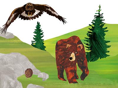 The Bear nature illustration digital cover children character books book art animal