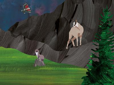The Chamois nature illustration digital children character books book art animal