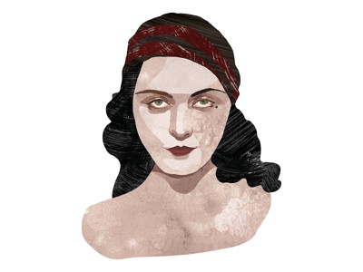 Pola Negri art digitalart portrait illustration