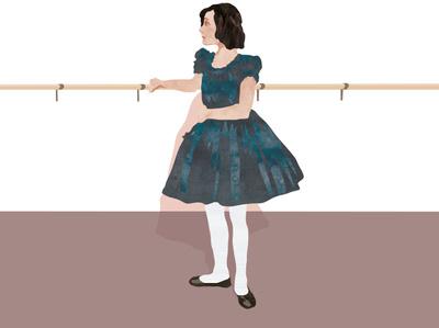 Young Pola Negri book digital character illustration