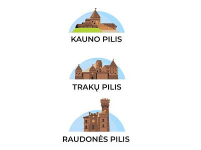 Pilys Lietuvoje web vector illustration