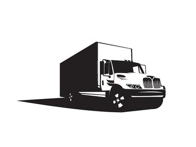 Black&White Truck design vector illustration