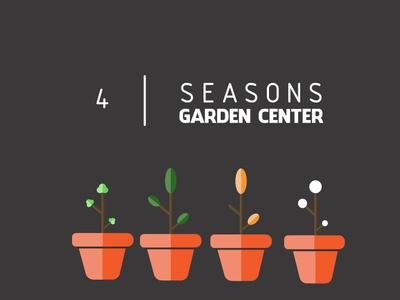 4 Seasons flat animation design vector illustration