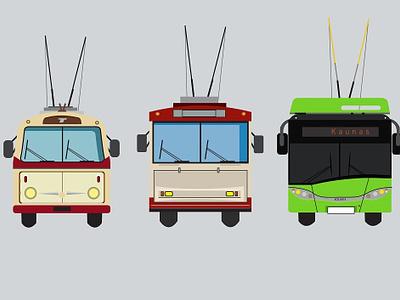 Public transport website flat web animation design vector illustration