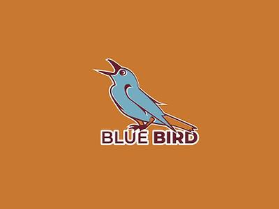 Bird Logo birdlogo bird bluebird creative design nature illustration logo branding creative flat animation design vector illustration