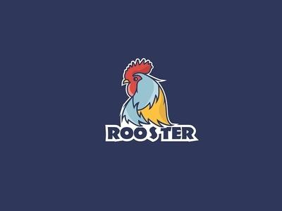 Rooster Logo minimalism cute art cutelogo lovely rooster roosterlogo creative design nature illustration logo web creative flat animation design vector illustration