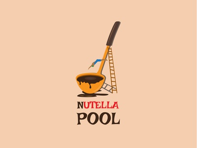 Choco pool chocolate choco jumping pool creative design branding logo web creative flat animation design vector illustration nutella