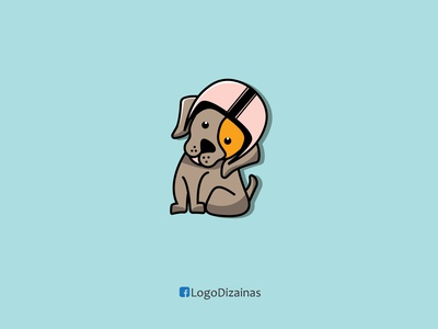 dog  illustration icon helmet helmet design dog logo dog illustration dog creative design branding web flat logo creative animation design vector illustration