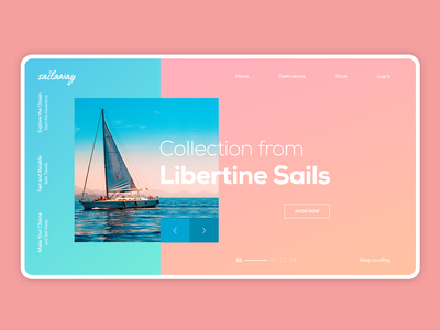 Sailaway - Minimal Homepage