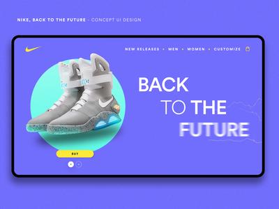 Nike Concept Landing Page - UI Design