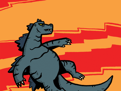 GODZILLA kaiju illustration fan art movie godzilla