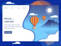 Landing Page Sky