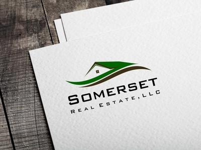 Somerset logo design branding house home real estate 99designs winner logo design logo