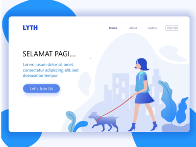 Landing Page design home page web website cat walking animal pets pet dog summer holiday landing page header