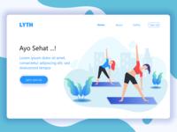 Landing Page design for yoga