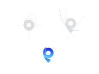 logo Pin Location from alphabet P