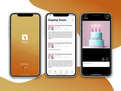 Toast Memories toast app mockup ui design iphone 11 iphone x project app design toast memories app design