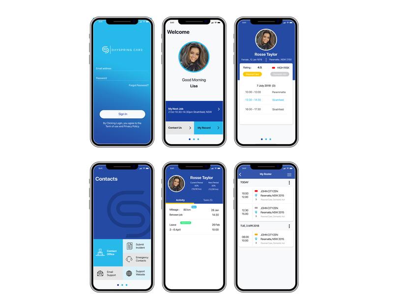Dayspring app design app apps application ui  ux design iphone app design android app design ui  ux app design