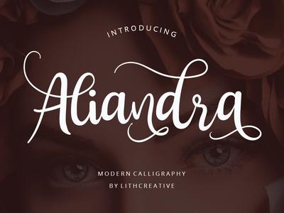 Aliandra Font typedesign typeface handwritten hand drawn hand lettering typography branding illustration design font logo