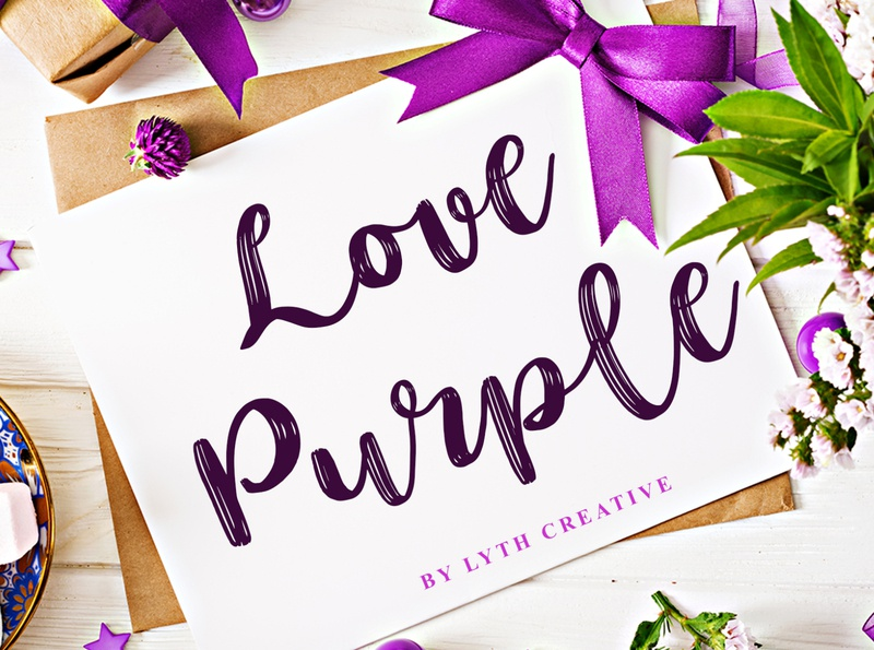 Love Purple Font fonts graphic design lettering purple typography calligraphy design font