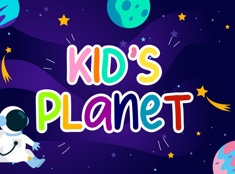 Kid's Planet Font font awesome line font display font font family fun font cute kids kid font font